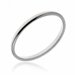 Alliance en or gris, demi-jonc 1.5mm