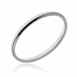 Alliance en or gris, demi-jonc 1.5mm