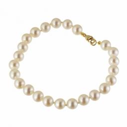 Bracelet en or jaune et perles de culture 6/6.5