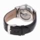 Montre automatique homme, boîte acier, bracelet cuir et verre minéral - C