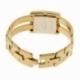 Montre dame, boîte acier doré, bracelet acier doré et verre minéral - C