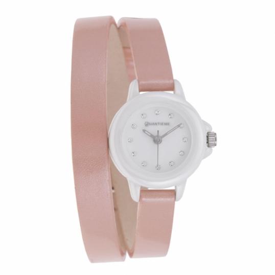 Type de montre  3 aiguilles; Bracelet  Cuir, Marron; Matière  Céramique,  Minéral; Couleur de fond du cadran  Blanc; Passant  1 fixe + 1 mobile