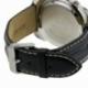 Montre homme étanche 200 m, boîte acier, bracelet cuir et verre minéral - C