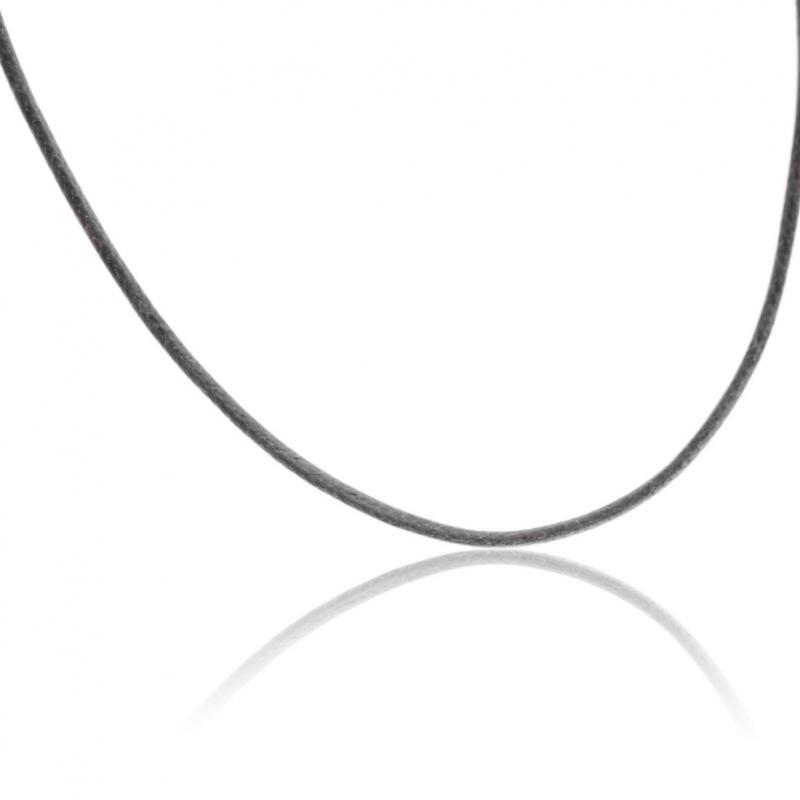 collier femme cordon noir