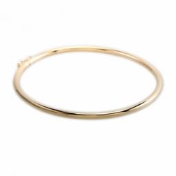 Bracelet jonc en or jaune flexible, fil 3 mm