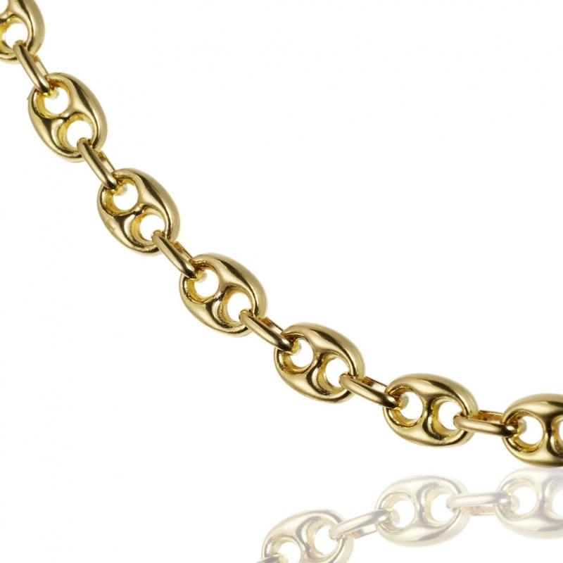 Achat Chaine en or jaune, maille grain de café   Longueur - 50 Homme ... f57c84cf3226
