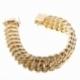 Bracelet en or jaune, maille americaine 15.5 mm - 15.9 mm - A