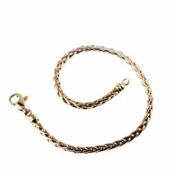 Bracelet en or jaune, maille palmier 3 mm