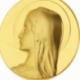 Médaille en or jaune, Vierge - B