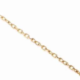Collier en or jaune, maille forçat diamantée