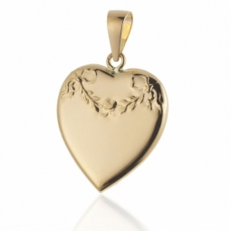 Pendentif médaillon coeur ouvrant en or jaune