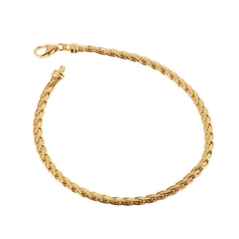 achat bracelet femme or jaune g le man ge bijoux. Black Bedroom Furniture Sets. Home Design Ideas