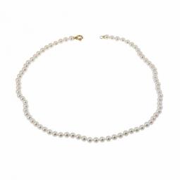 Collier en or jaune et perles de culture 5,5 - 6mm