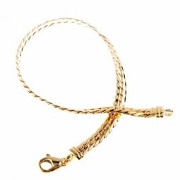 Bracelet en or jaune, maille anglaise 4,6 mm