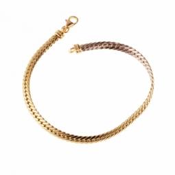 Bracelet 2 ors, maille anglaise, réversible