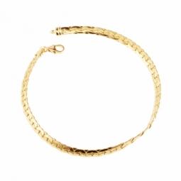Bracelet en or jaune, maille forçat haricot