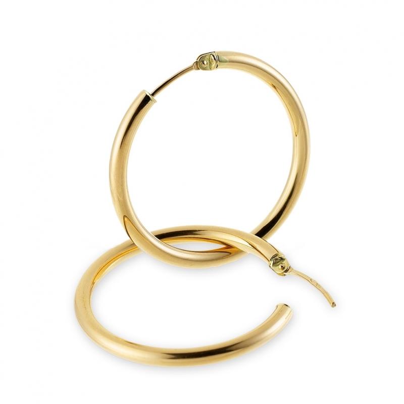 magasin en ligne e5360 4abb8 Achat Créoles en or jaune, diamètre 30 mm. : Longueur ...