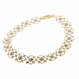 Bracelet en or jaune rhodié