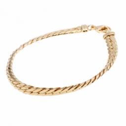 Bracelet en or jaune, maille anglaise, 5,4 mm