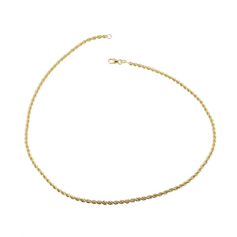 CHAINE ARGENT maille torsadée corde 40 cm neuf