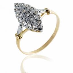 Bague en or rhodié et diamants