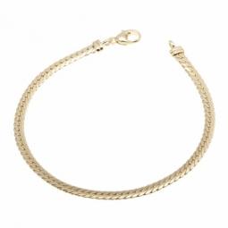 Bracelet en or jaune, maille anglaise 3,6 mm