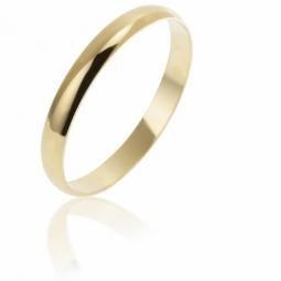 Alliance demi jonc en or jaune, largeur 2,5 mm