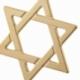 Pendentif en or jaune, étoile de David - B