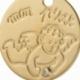 Médaille en or jaune et diamant - B