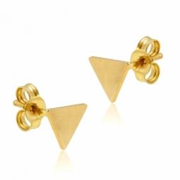 Boucles d'oreilles en or jaune, triangle