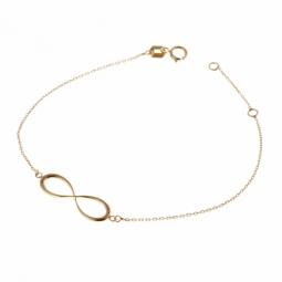 Bracelet en or jaune, motif infini ajouré