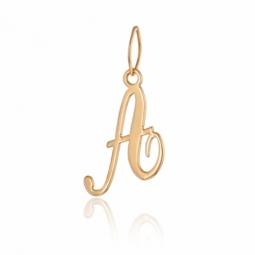 Pendentif alphabet en or jaune, lettre A