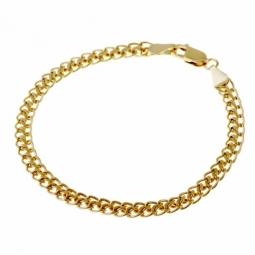 Bracelet en or jaune, maille fantaisie
