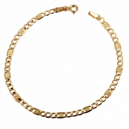 Bracelet en or jaune, maille marine fantaisie
