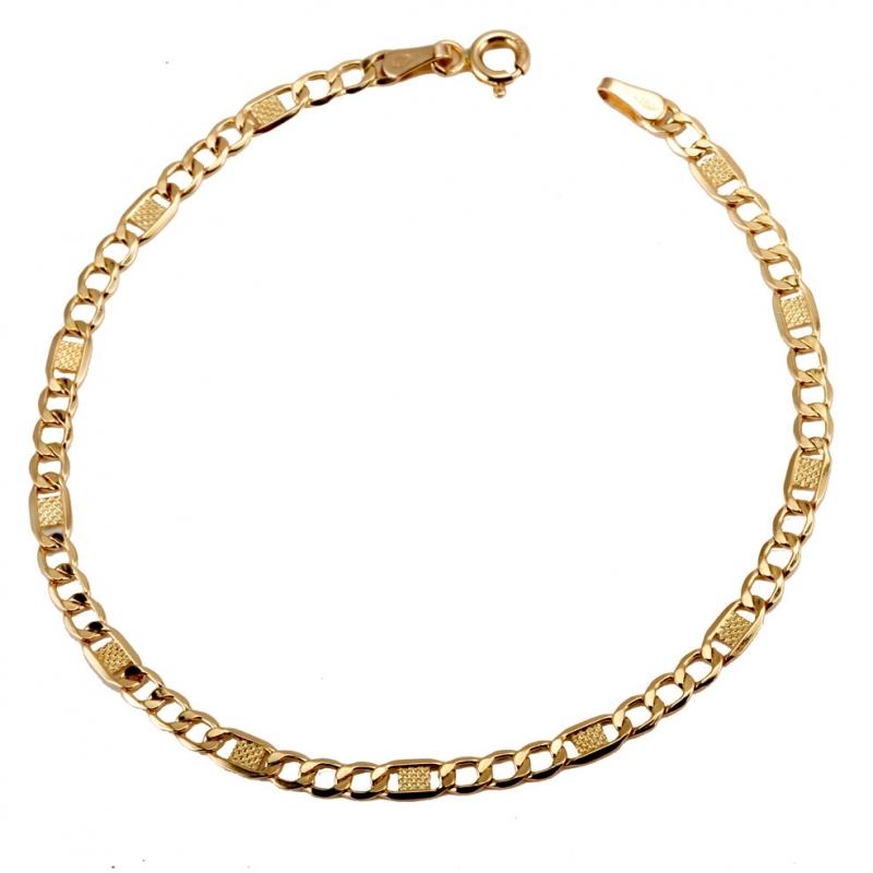 Nouvelles Arrivées 09eff d878e Achat Bracelet en or jaune, maille marine fantaisie ...