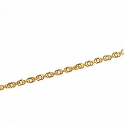 Collier en or jaune, maille fantaisie