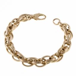 Bracelet en or jaune, maille tressée