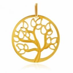 Pendentif en or jaune arbre de vie ajouré