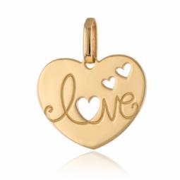 Pendentif en or jaune Love