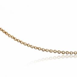 Collier en or jaune et rhodié, maille jaseron diamantée