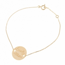 Bracelet en or jaune, Lovely Mum