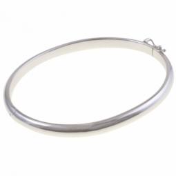 Bracelet jonc en or gris