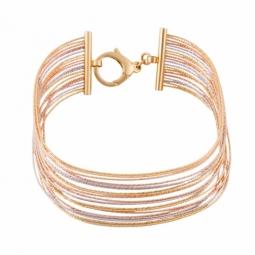 Bracelet jonc en 3 ors multifils