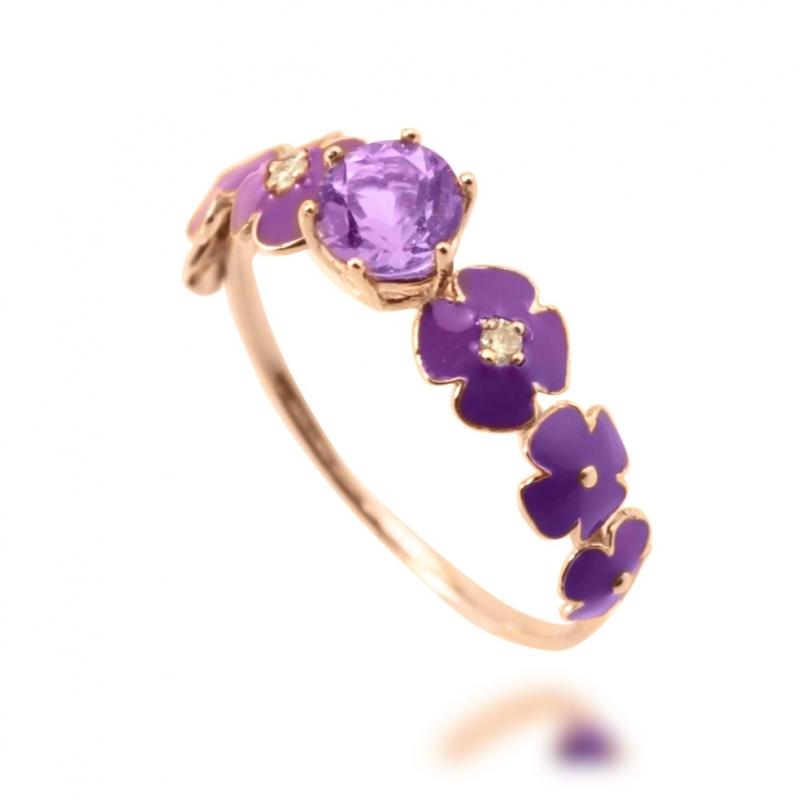 bague améthyste manège à bijoux