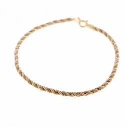 Bracelet en deux ors, maille corde