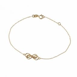 Bracelet en or jaune mate et lisse