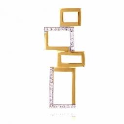 Pendentif en or jaune rhodié  et diamants