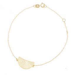 Bracelet en or jaune, demi cercle ajouré