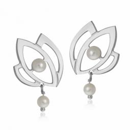 Boucles d'oreilles en or gris