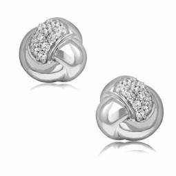 Boucles d'oreilles en argent rhodié et oxydes de zirconium